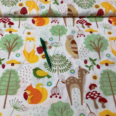 Erdei állat mintás Pamut karton