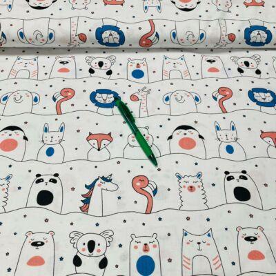 állat mintás pamut karton