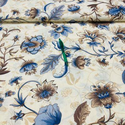sötétkék virág mintás pamut karton