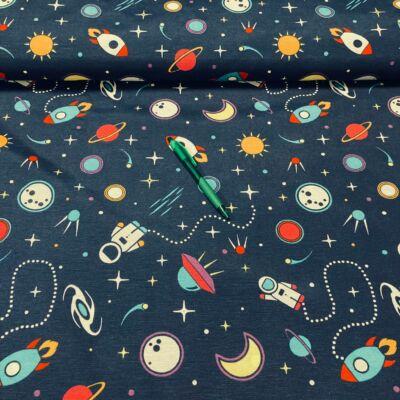 űr mintás loneta vászon