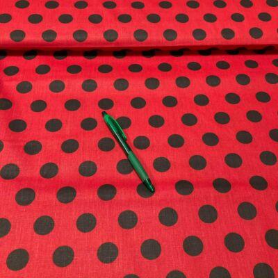piros alapon fekete pöttyös pamut karton