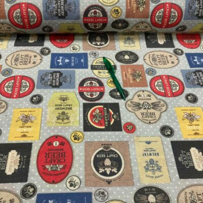 Brewery beer mintás loneta vászon