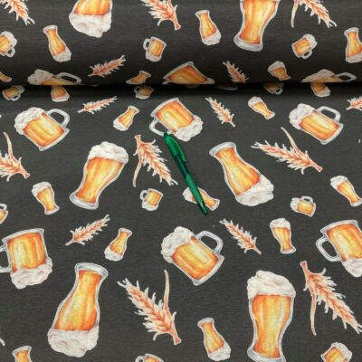 korsó sör mintás loneta vászon