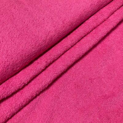 pink színű kétoldalas frottír anyag