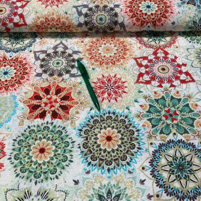 színes kaleidoszkóp mintás loneta vászon