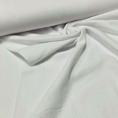 fehér színű duplafalú géz anyag