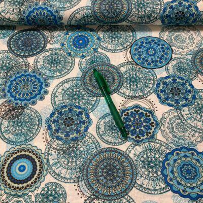 kék mandala mintás pamut karton