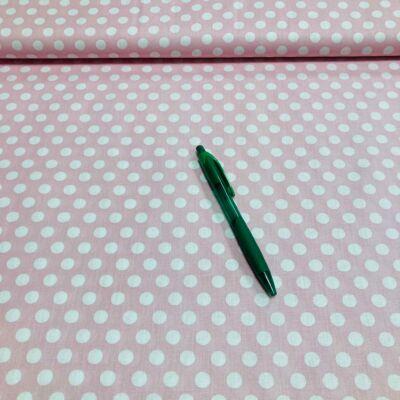 babarózsaszín 1 cm-es pöttyös pamut karton