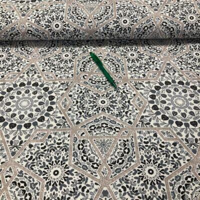 szürke mediterrán mozaik mintás loneta vászon