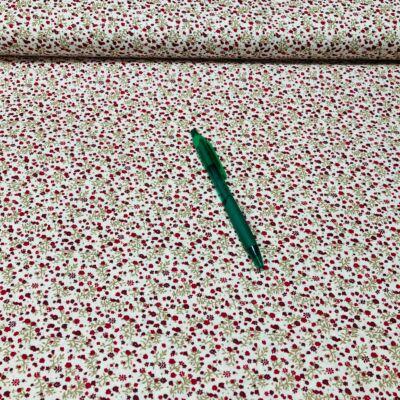 piros apró virág mintás pamut karton