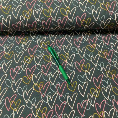 szívecske mintás holland pólóanyag
