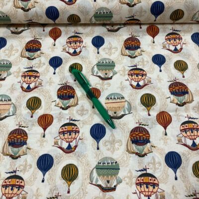 hőlégballon mintás pamut karton