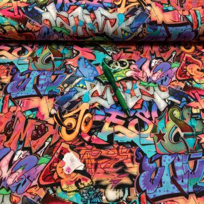 graffiti mintás holland vékony futter