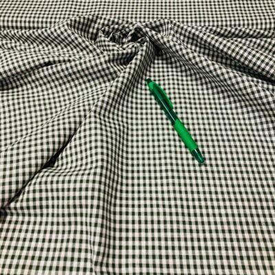 zöld-fehér kockás nem sztreccs puplin