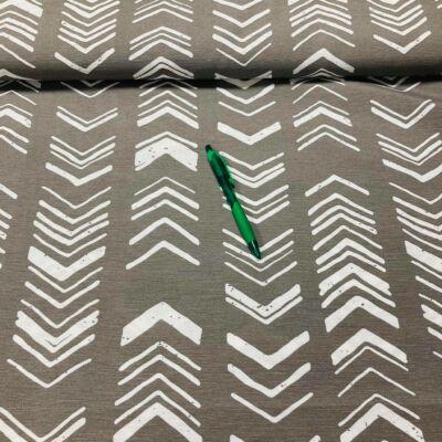 szürke alapon háztető mintázatú loneta vászon