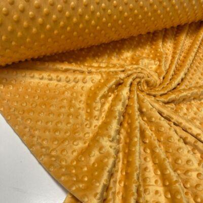mustár színű minky anyag