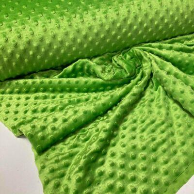 élénk zöld minky anyag