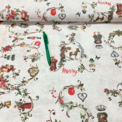 karácsonyi mintás loneta vászon
