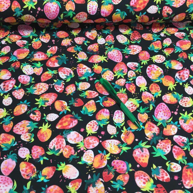 Eper mintás holland pólóanyag