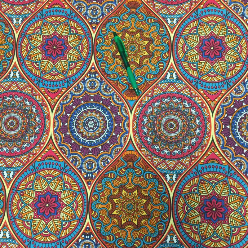 mandala mintás Loneta vászon