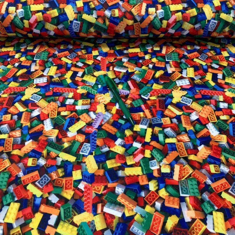 lego mintás kevert szálas dzsörzé