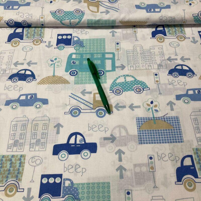 kék járműves pamut karton