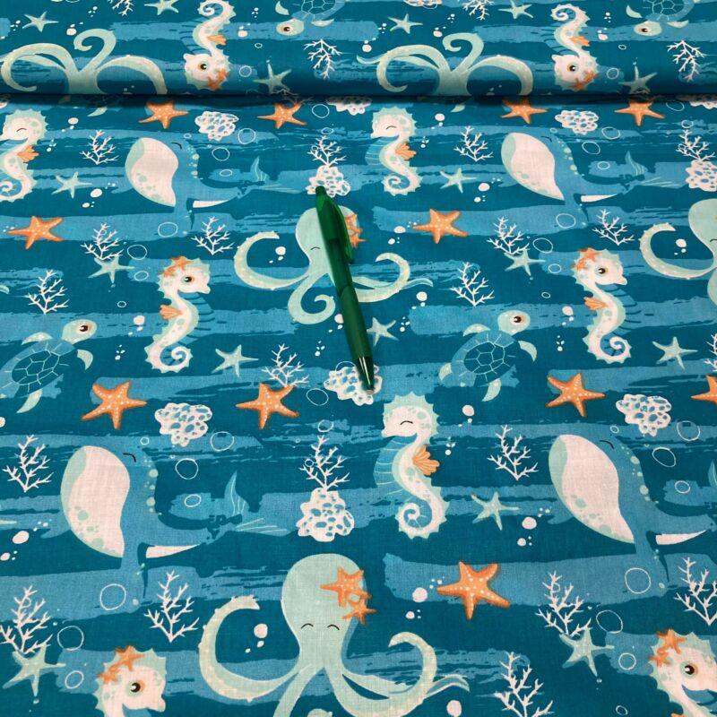 tengeri állat mintás pamut karton