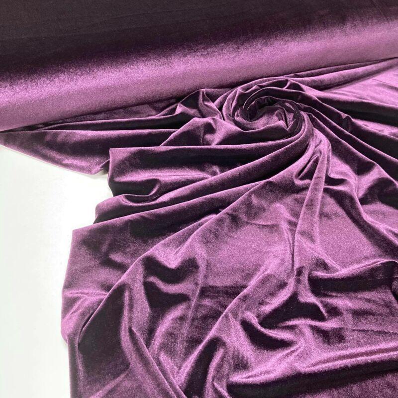 sötétlila színű sztreccs bársony