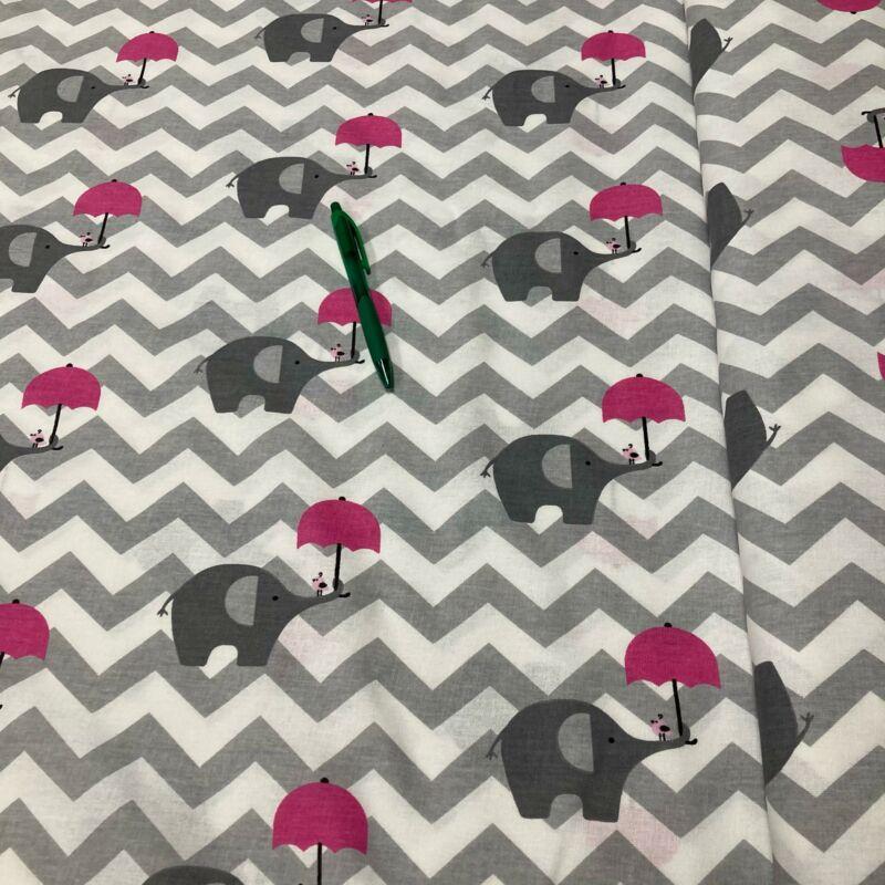 elefánt rózsaszín esernyővel pamut karton