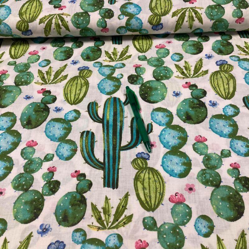 kaktusz mintás pamut karton