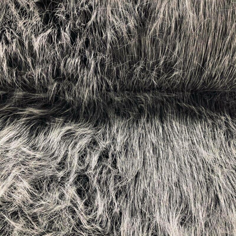 """"""" melírozott"""" szürke műszőrme (5 cm hosszú)"""
