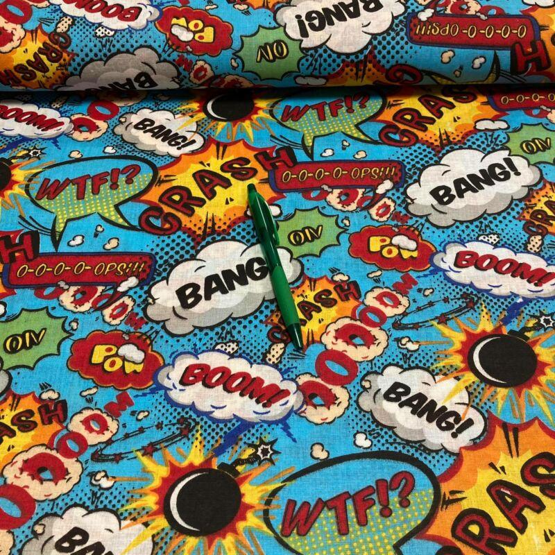 Bang boom mintás pamut karton