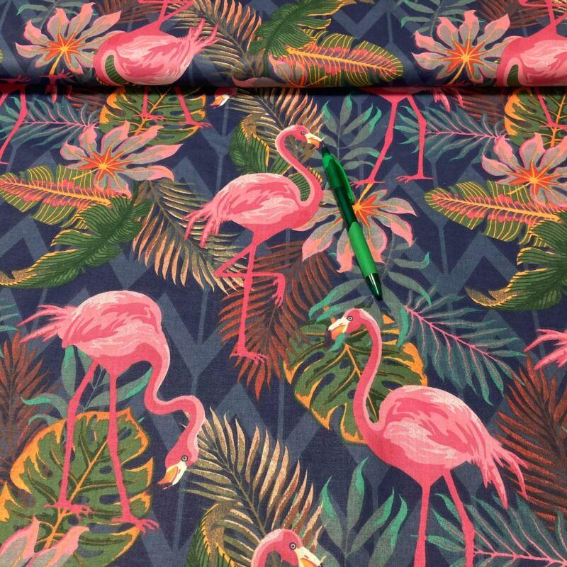 flamingó mintás pamut karton