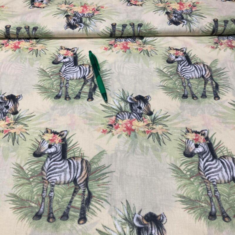zebra mintás pamut karton