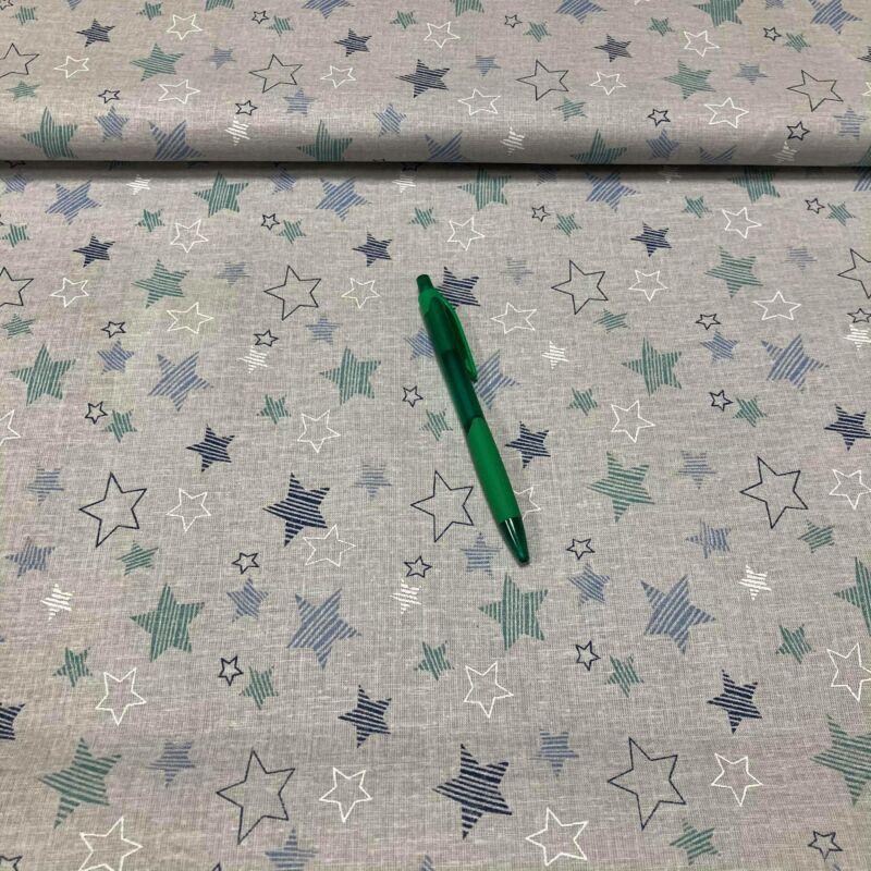 csillag mintás pamut karton