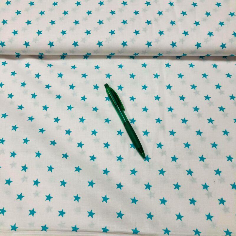 türkizkék csillag mintás pamut karton