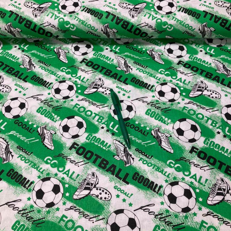 zöld focilabda mintás pamut karton
