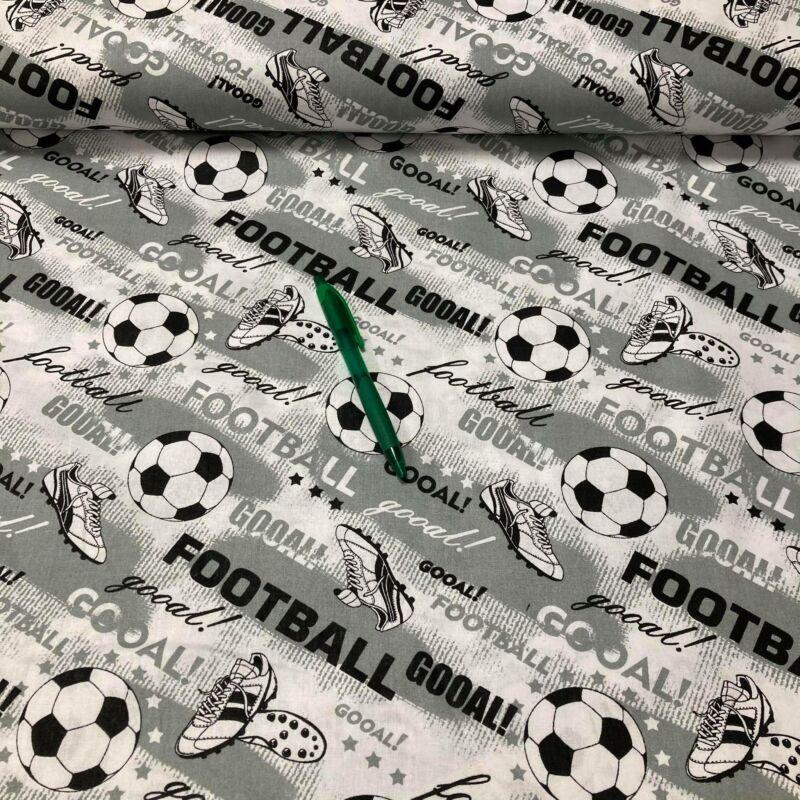 szürke focilabda mintás pamut karton