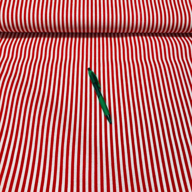 piros-fehér csíkos pamut karton