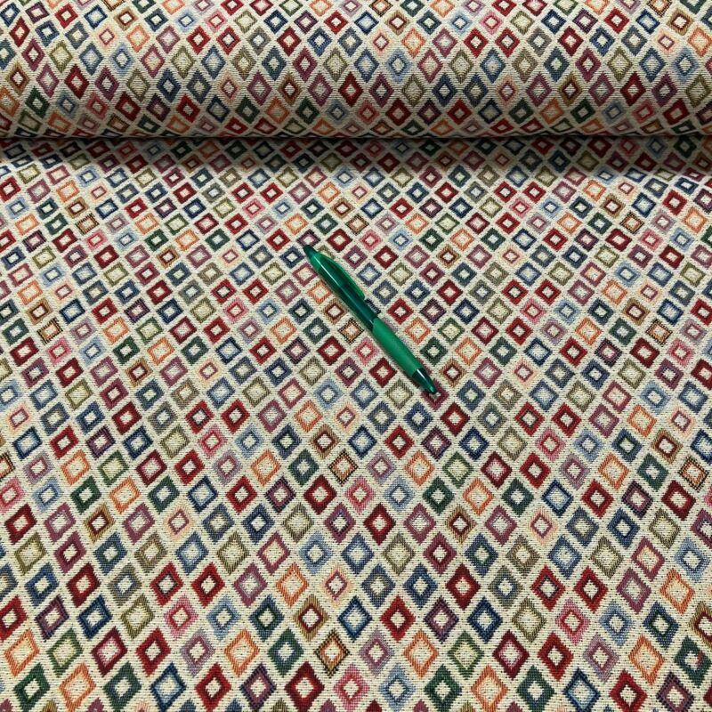 színes rombusz mintás gobelin