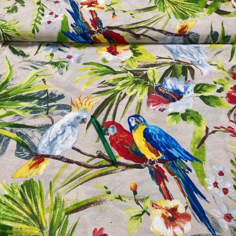 papagáj mintás loneta vászon