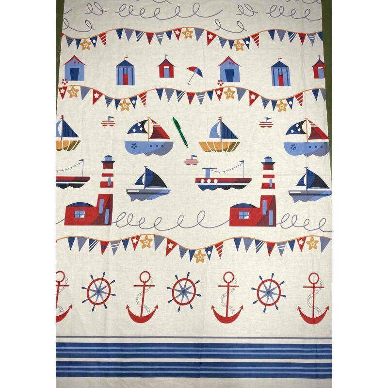 tengerész mintás pamut karton