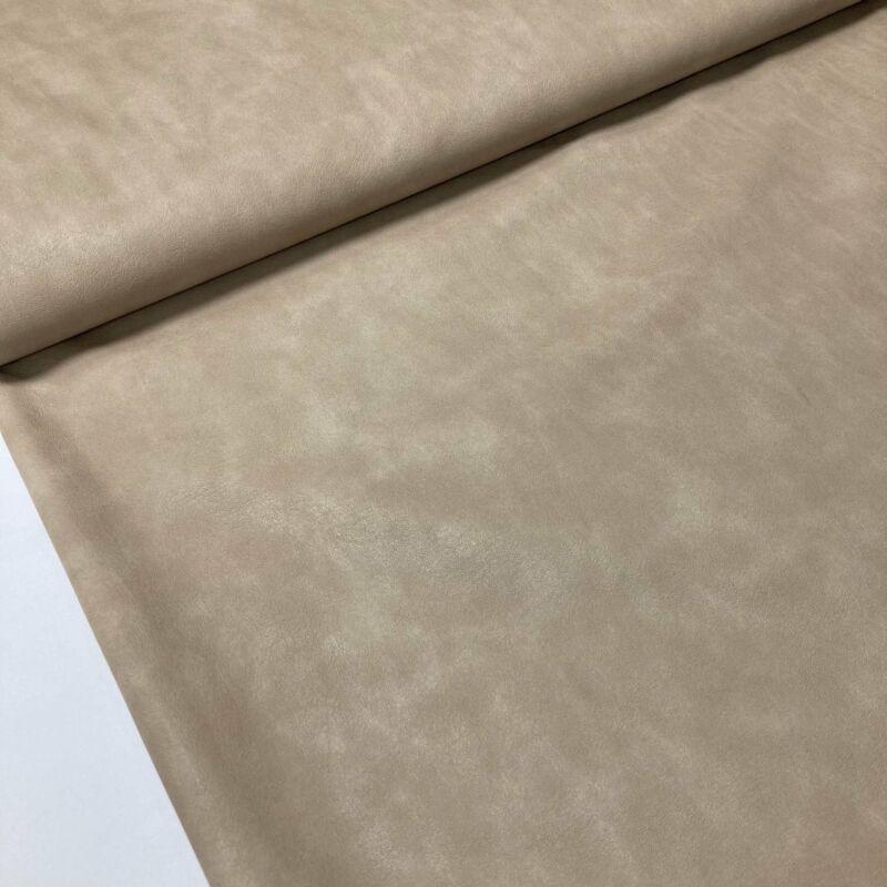 Bézs színű  márvány mintás textilhátú műbőr