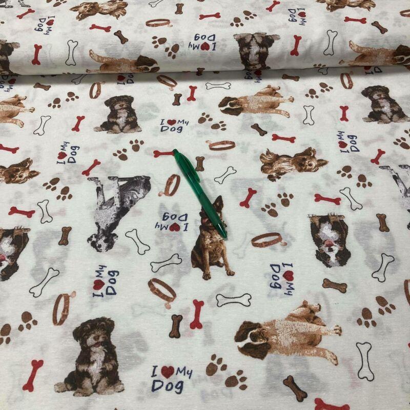i love my dog mintás loneta vászon
