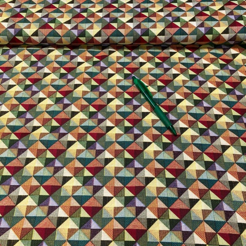 színes háromszög mintás pamut karton