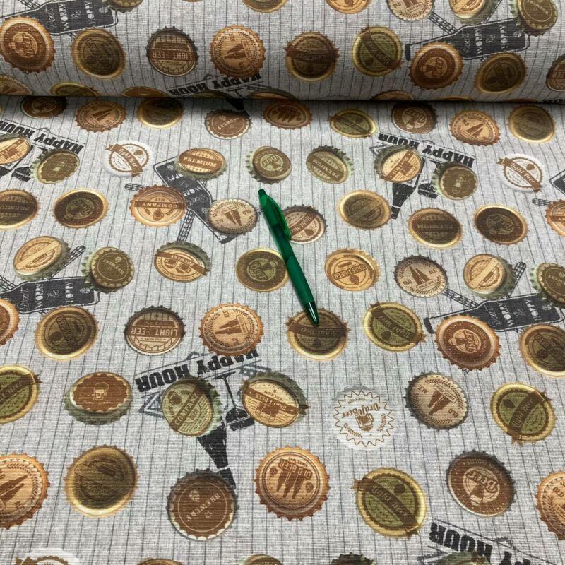 sörös kupak mintás loneta vászon