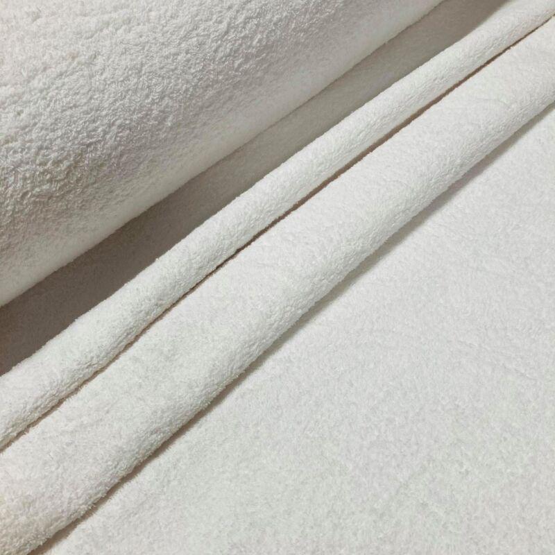 fehér frottír anyag