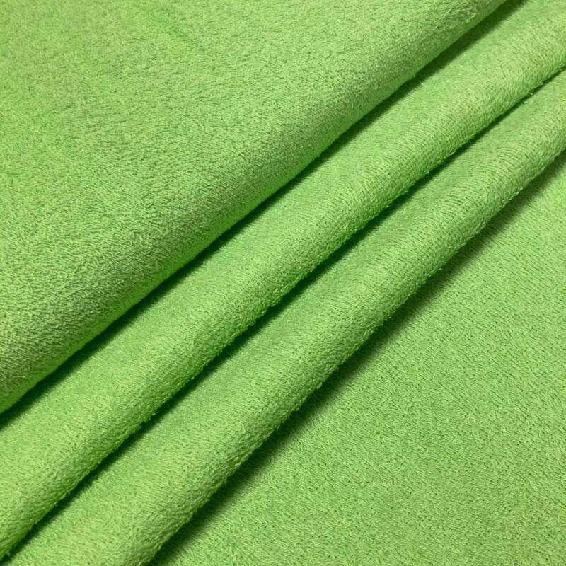 élénk zöld színű kétoldalas frottír