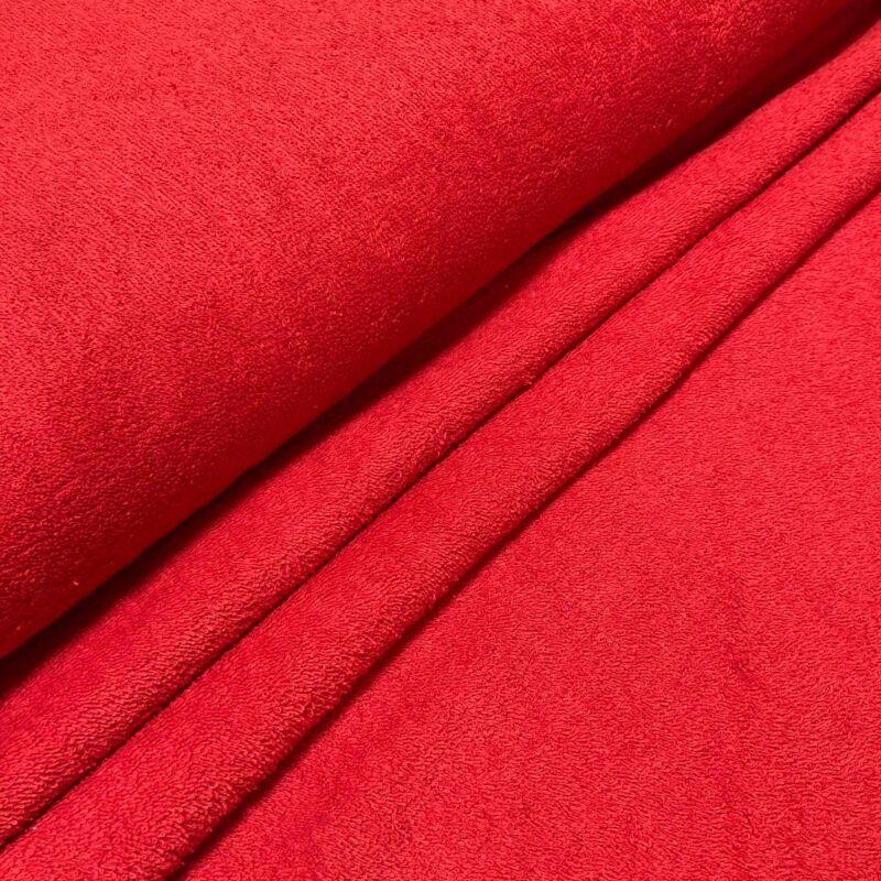 piros színű kétoldalas frottír anyag