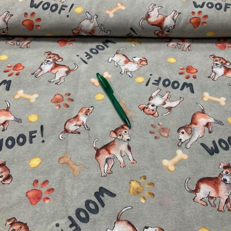 woof kutya mintás loneta vászon